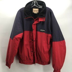 Woolrich Mens Bomber Jacket Black Red Color L